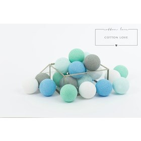Cotton illuminating ICE marbles Cotton Balls - mint pastel, cotton love